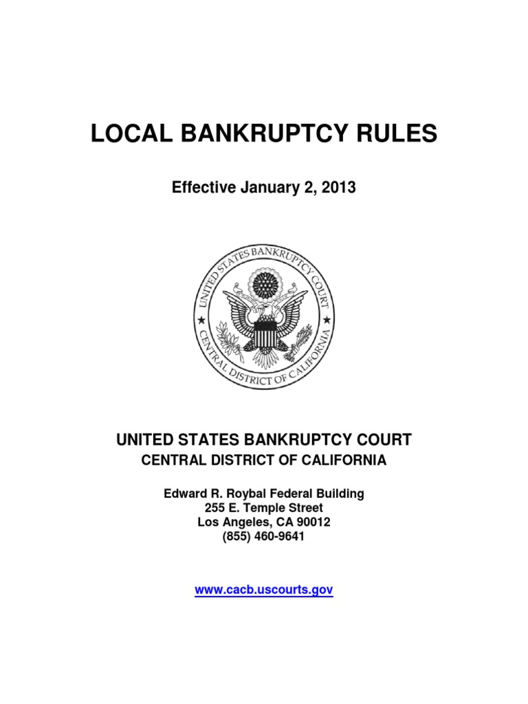 Ma bankruptcy local rules