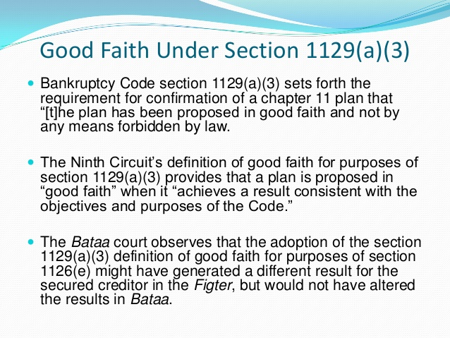 Bankruptcy code 1129